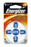 Energizer ENZINCAIRC675-4 Batterie per Apparecchi acustici, Bianco/Azzurro (4 pezzi).