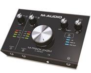 M-Audio M-Track 2X2M Interfaccia Audio MIDI USB a 2 Canali con Risoluzione 24Bit/192Khz + Pacchetto Software con Cubase Le, Plugin Air, Strike, Xpand!2 e Mini Grand