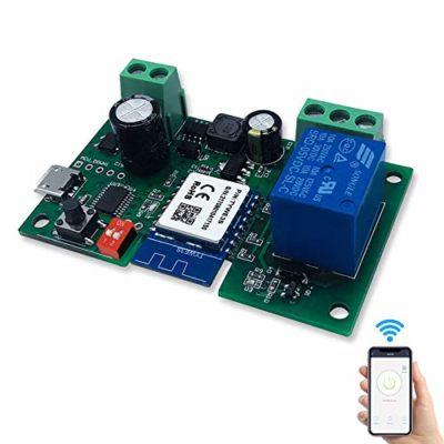 Aggiornamento 2020 1 Canale Intelligente Pulsante Sonoff Rele Wifi DC5V12V Wireless Universale Modulo Telecomando Interruttore Timer per Automazione Cancelli Compatibile con Alexa Smart Life App 0