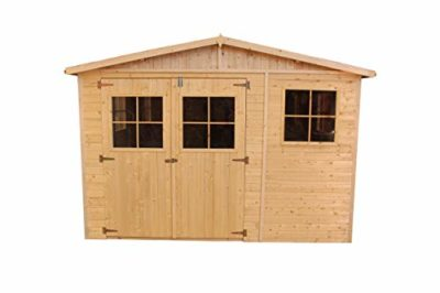 Casa da giardino in legno naturale H226x316x324 cm9 m Magazzino esterno con finestre Capanno da giardino Bici Deposito attrezzi e rimessa TIMBELA M335 0 1