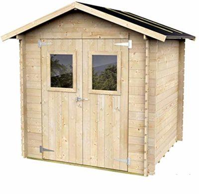 Casetta In Legno Per Attrezzi con porta doppia finestrata Olivia 198 x 198 cm 0