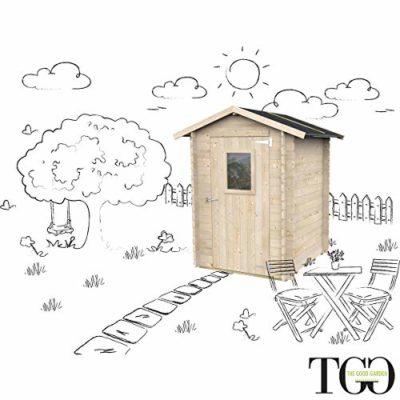 Casetta in legno Jack Per Attrezzi Giardino con porta singola finestrata 146 x 146 cm 0