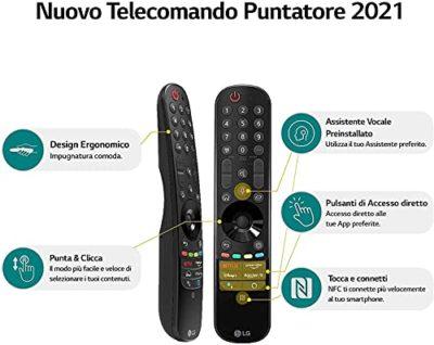 LG 75QNED966PA Smart TV 8K 75 TV Mini LED QNED96 2021 con Processore 9 Gen4 Dolby Vision IQ Wi Fi webOS 60 FILMMAKER MODE Google Assistant e Alexa Integrati 4 HDMI 21 Telecomando Puntatore 0 5