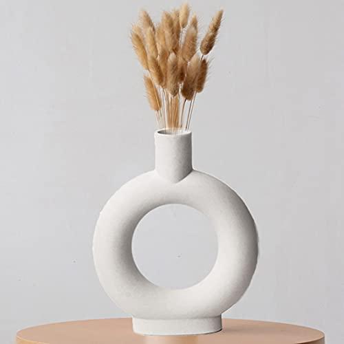 Liseng Vaso in ceramica per la decorazione della casa bianco vegetariano vaso da fiori in ceramica per la casa 0