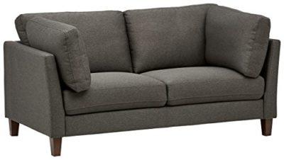 Marchio Amazon Rivet divano modello Midtown con cuscini rimovibili stile moderno larghezza 174 cm colore carbone 0