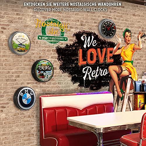 Nostalgic Art 51074 Orologio da Parete con Logo Coca Cola Refresh Yourself 31 cm Rosso metallo 0 4