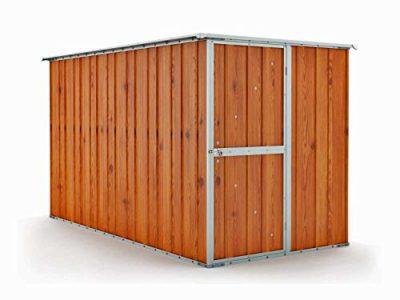 Notek Box in Acciaio Zincato Casetta da Giardino in Lamiera 175 x 307 m x h182 m 95 kg 54 Metri Quadri Legno 0