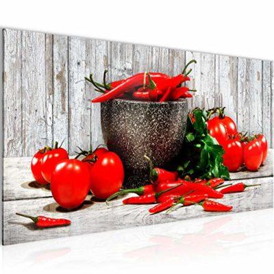 Quadri Moderni Cucina Verdure 1 Pezzo Tela Non Tessuta Soggiorno Corridoio Legno Bianco Rosso 005812b 0