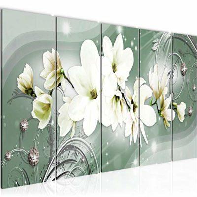 Quadro Magnolia Fiori Stampa DArte Tela Non Tessuta Decorazione Murale Soggiorno Camera Da Letto 006356a 0