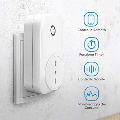 meross Presa Intelligente Wifi Italiana Type L Smart Plug Spina Energy Monitor 16A 3680W Funzione Timer Compatibile con SmartThings Amazon Alexa Google Assistant e IFTTT APP Controllo Remoto 0 0