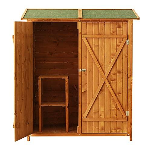 miozzi Casetta Box da Giardino in Legno Naturale 160x125 cm 0